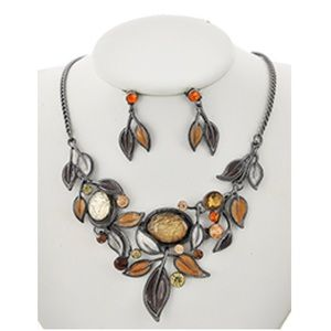 Jewelry - Rhinestone Necklace and Earring Set